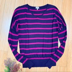 STITCHFIX Pixley Borrego striped cotton sweater, S